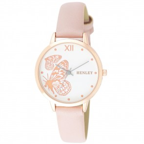 Filigree Butterfly Watch - Pink