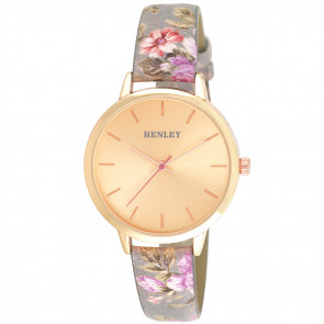 Spring Floral Watch - Grey