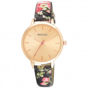 Spring Floral Watch - Black