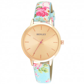 Spring Floral Watch - Blue
