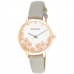 Filigree Floral Watch - Grey
