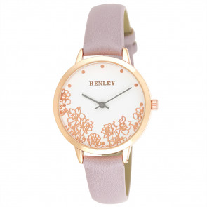 Filigree Floral Watch - Lilac