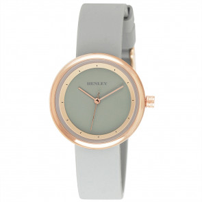 Slimline Sports Watch - Grey / Rose Gold Tone Highlights