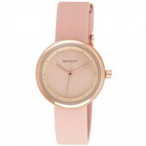 Slimline Sports Watch - Pink / Rose Gold Tone Highlights
