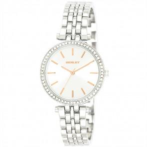 T-Bar Bracelet Watch - Silver / Rose Gold Highlights