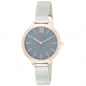 Two-Tone Mesh Bracelet Watch - Metallic Blue