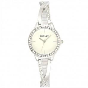 Petite Criss-Cross Watch - Silver