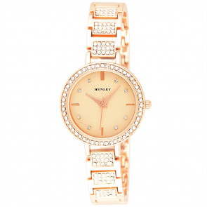 Diamante Bracelet Watch - Rose Gold
