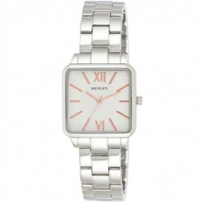 Classic Square Bracelet Watch - Silver Tone