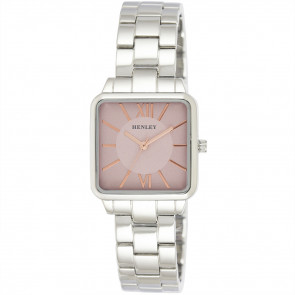 Classic Square Bracelet Watch - Pink