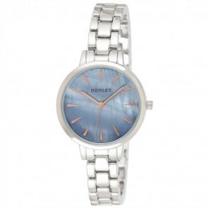 Mother of Pearl Bracelet Watch - Blue