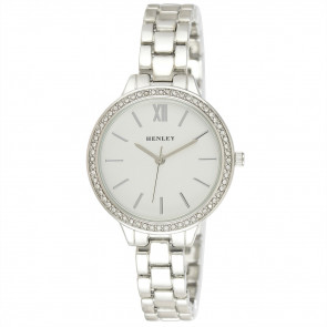 Minimal Diamante Watch - Silver Tone