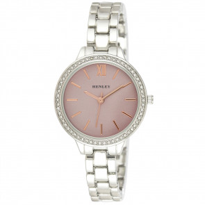 Minimal Diamante Watch - Pink