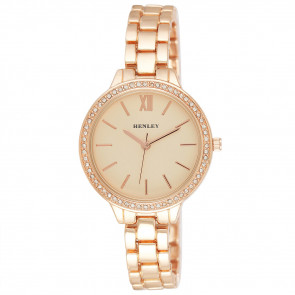 Minimal Diamante Watch - Rose Gold Tone