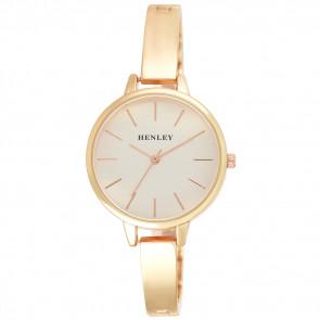 Modern Index Half Bangle Watch - Rose Gold Tone