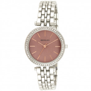 Rose Highlighted Diamante Watch - Pink