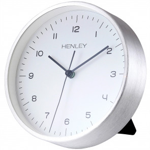 Contemporary Mantel Clock - Chrome