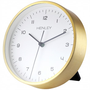 Contemporary Mantel Clock - Brass