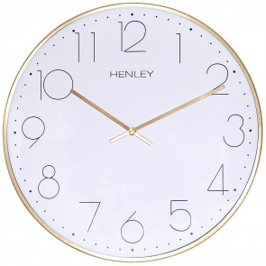 Large Contemporary Living Clock - Brass