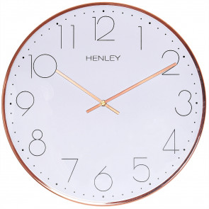 Large Contemporary Living Clock - Copper