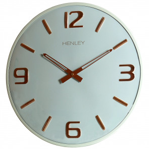 Large Dome Statement Clock - Duck Egg Blue / Rose Gold
