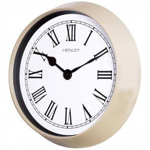 Medium Roman Porthole Clock - Taupe