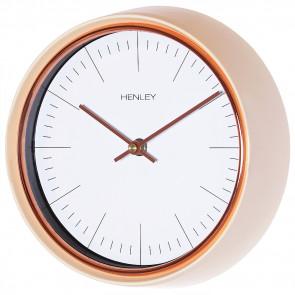 Minimal Porthole Clock - Cream / Rose Gold Trim