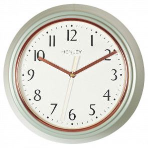 Modern Metal Porthole Clock - Grey / Rose Gold