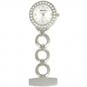 Women's Jewellery Fob Watch - Silver
