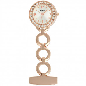 Women's Jewellery Fob Watch - Rose Gold